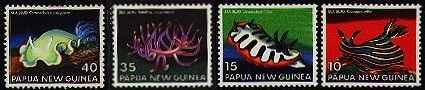 nudibranch stamps-- New Guinea