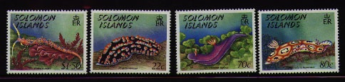 nudibranch stamps-- Solomon Islands