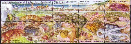 nudibranch stamps-- New Zealand